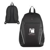 Atlas Black Computer Backpack-Mitchell College Vertical Logo