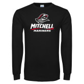 Black Long Sleeve T Shirt-Mitchell Mariners Stacked