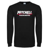 Black Long Sleeve T Shirt-Mitchell Mariners Wordmark