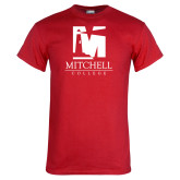 Red T Shirt-Mitchell College Vertical Logo