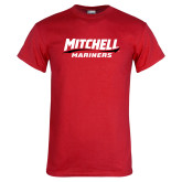 Red T Shirt-Mitchell Mariners Wordmark