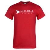 Red T Shirt-Mitchell College Horizontal Logo
