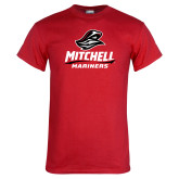 Red T Shirt-Mitchell Mariners Stacked