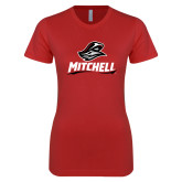 Next Level Ladies SoftStyle Junior Fitted Red Tee-Mitchell W Mariner