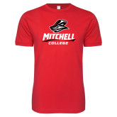 Next Level SoftStyle Red T Shirt-Primary Athletics Mark