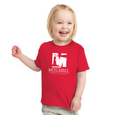 Toddler Red T Shirt-Mitchell College Vertical Logo