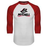 White/Red Raglan Baseball T Shirt-Mitchell W Mariner