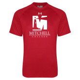Under Armour Red Tech Tee-Mitchell College Vertical Logo