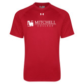 Under Armour Red Tech Tee-Mitchell College Horizontal Logo