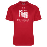 Under Armour Red Tech Tee-Mitchell College Vertical Distressed