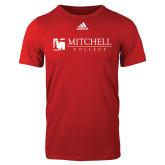Adidas Red Logo T Shirt-Mitchell College Horizontal Logo