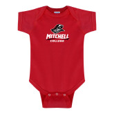 Red Infant Onesie-Primary Athletics Mark