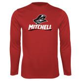 Performance Red Longsleeve Shirt-Mitchell W Mariner