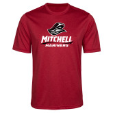 Performance Red Heather Contender Tee-Mitchell Mariners Stacked