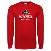 Red Long Sleeve T Shirt-Primary Athletics Distressed