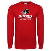 Red Long Sleeve T Shirt-Athletics