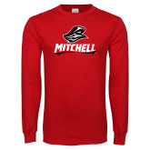 Red Long Sleeve T Shirt-Mitchell W Mariner