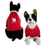 Classic Red Dog Polo-Mitchell College Vertical Logo