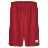 Performance Classic Red 9 Inch Short-Mitchell College Vertical Logo