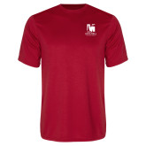 Performance Red Tee-Mitchell College Vertical Logo