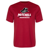 Performance Red Tee-Mitchell Mariners Stacked