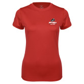 Ladies Syntrel Performance Red Tee-Primary Athletics Mark