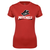 Ladies Syntrel Performance Red Tee-Mitchell W Mariner