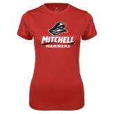 Ladies Syntrel Performance Red Tee-Mitchell Mariners Stacked