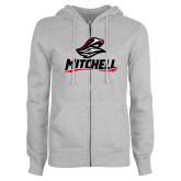 ENZA Ladies Grey Fleece Full Zip Hoodie-Mitchell W Mariner