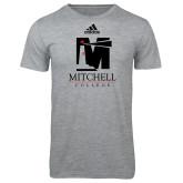 Adidas Sport Grey Logo T Shirt-Mitchell College Vertical Logo