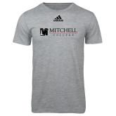 Adidas Sport Grey Logo T Shirt-Mitchell College Horizontal Logo