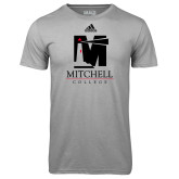 Adidas Climalite Sport Grey Ultimate Performance Tee-Mitchell College Vertical Logo