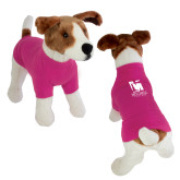 Classic Fuchsia Dog T Shirt-Mitchell College Vertical Logo