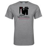 Grey T Shirt-Mitchell College Vertical Logo