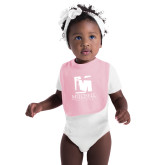 Light Pink Baby Bib-Mitchell College Vertical Logo