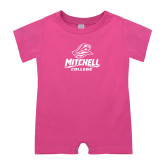 Bubble Gum Pink Infant Romper-Primary Athletics Mark