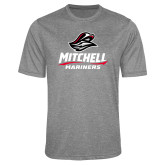 Performance Grey Heather Contender Tee-Mitchell Mariners Stacked