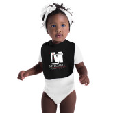 Black Baby Bib-Mitchell College Vertical Logo