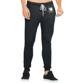 Bella Canvas Charcoal Heather Joggers-Mitchell College Vertical Logo