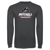Charcoal Long Sleeve T Shirt-Mitchell Mariners Stacked
