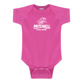 Fuchsia Infant Onesie-Primary Athletics Mark