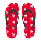 Full Color Flip Flops-Mitchell College Vertical Logo