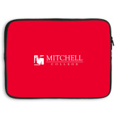 15 inch Neoprene Laptop Sleeve-Mitchell College Horizontal Logo