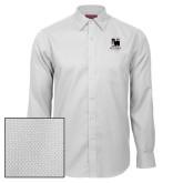 Red House White Diamond Dobby Long Sleeve Shirt-Mitchell College Vertical Logo