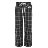 Black/Grey Flannel Pajama Pant-Primary Athletics Mark