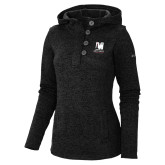 Columbia Ladies Darling Days Black Pullover-Mitchell College Vertical Logo