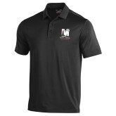 Under Armour Black Performance Polo-Mitchell College Vertical Logo
