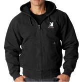 DRI DUCK Cheyenne Black Hooded Jacket-Mitchell College Vertical Logo