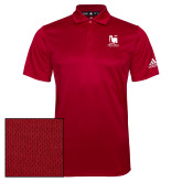 Adidas Climalite Red Grind Polo-Mitchell College Vertical Logo