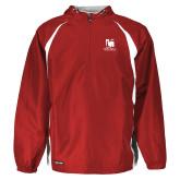 Holloway Hurricane Red/White Pullover-Mitchell College Vertical Logo